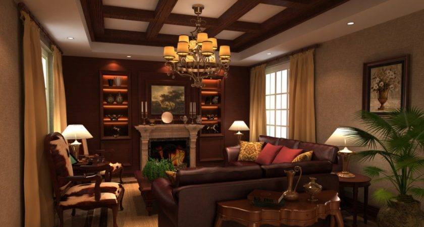 Classic Design American Living Room Ceiling