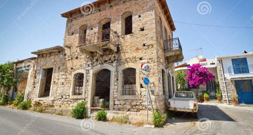 Classic Greek Houses Small Town Lasithi Plat