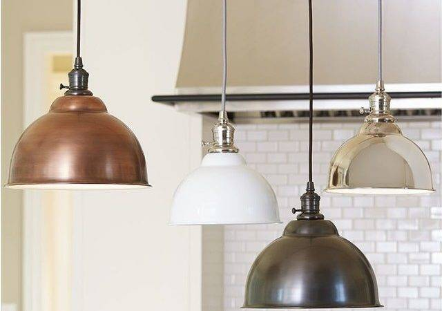 Classic Pendant Metal Bell Copper Finish Industrial