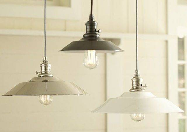 Classic Pendant Metal Flared Industrial