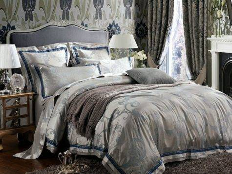 Classic Retro Grey Rustic Chic Simply Jacquard Design