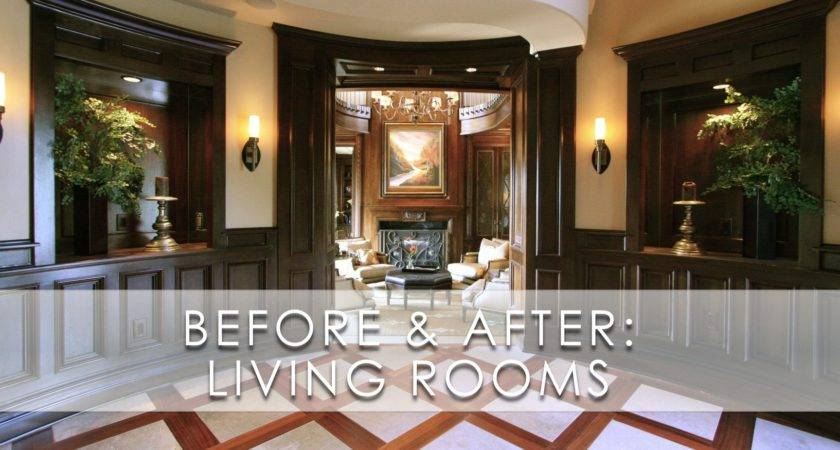 Classic Sophisticated Living Room Before After San