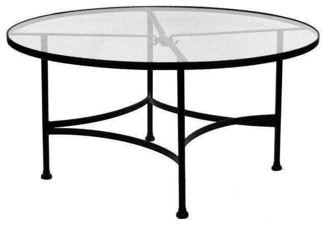 Classico Round Glass Top Dining Table Eclectic