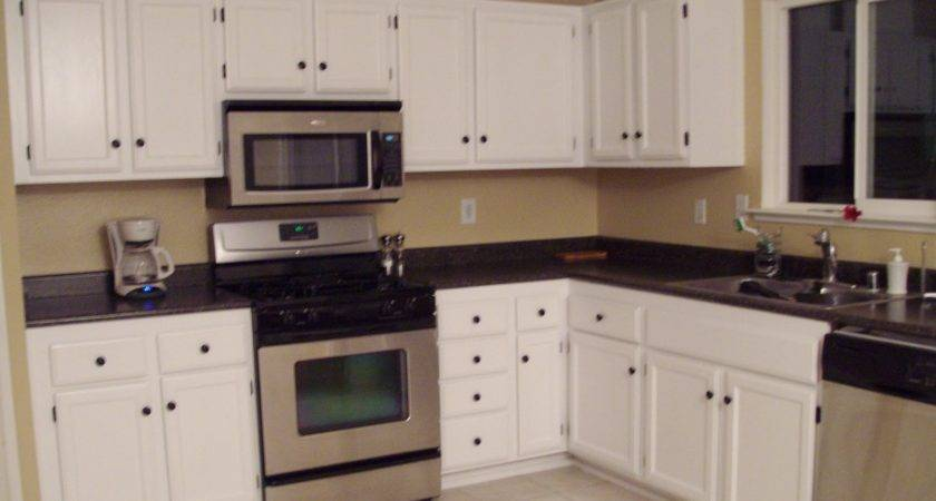 Classy White Wooden Cabinetry Set Kitchen Paint Colors