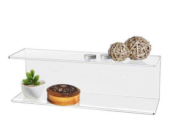 Clear Acrylic Floating Shelf Plexiglass Wall Mount Display