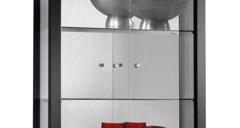 Clear Glass Hanging Storage Display Cupboard Cabinet Unit