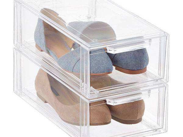 Clear Stackable Shoe Drawer Container Store