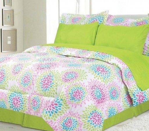 Clearance Girls Kids Bedding Cody Lime Green Pink