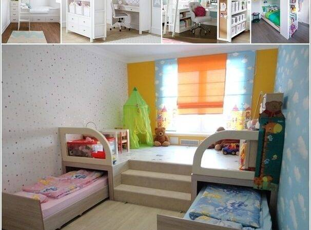 Clever Ways Save Space Small Kids Room