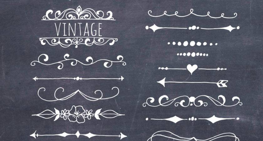 Clip Art Chalkboard Text Dividers Plus Photoshop Brushes