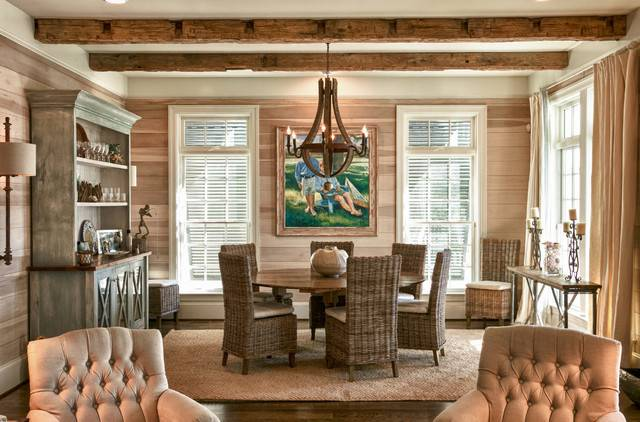 Coastal Living Space Beach Style Dining Room Raleigh