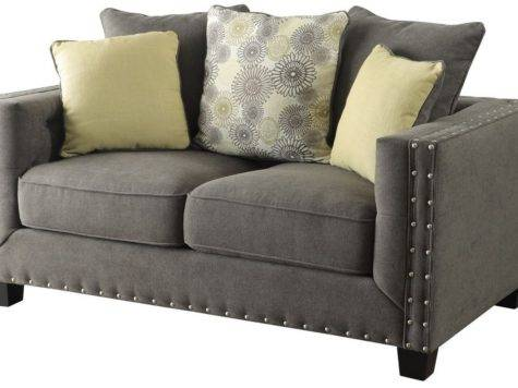 Coaster Furniture Kelvington Charcoal Grey Fabric Living