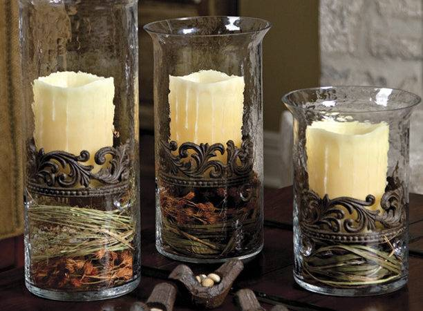 Collection Scrolled Candle Cylinders