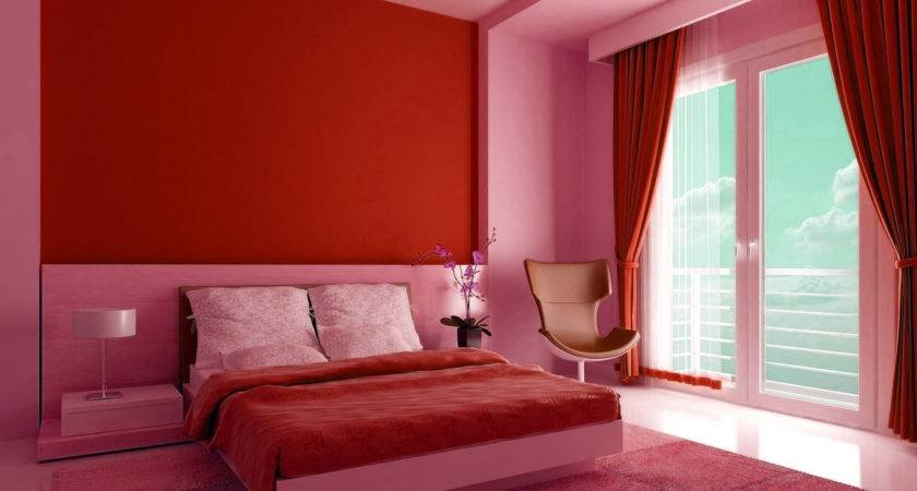 Color Combination Bed Room Red Home Combo