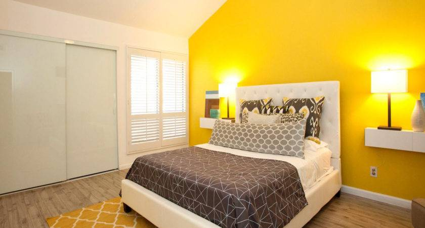 Color Contrast Wall Yellow Home Combo