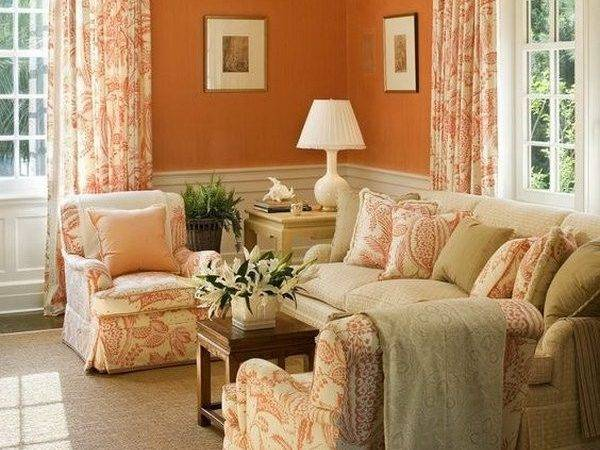 Color Curtains Burnt Orange Walls Home
