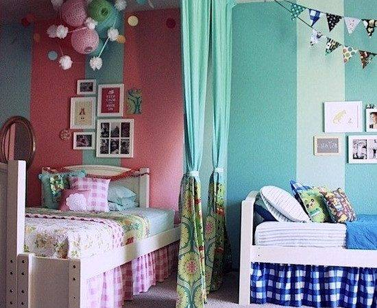 Color Divide Kids Rooms