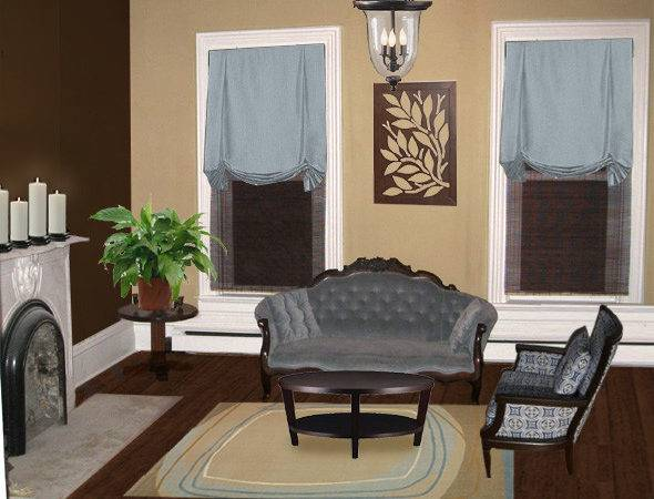 Color Paint Living Room Dark Brown Furniture
