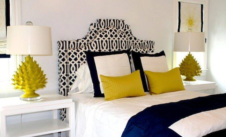 Color Scheme Yellow Navy Blue Eclectic Living Home