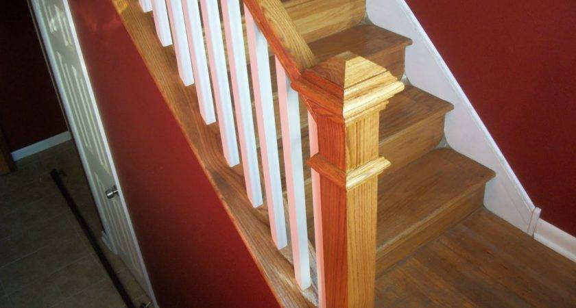Color Stair Railing Ideas Wood
