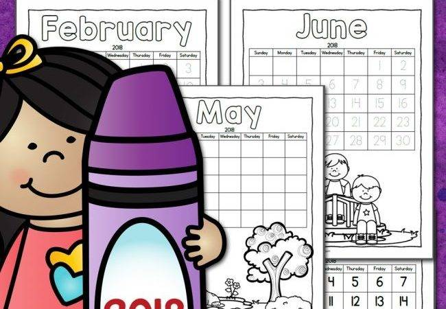 Color Your Own Calendar Mamas Learning Corner