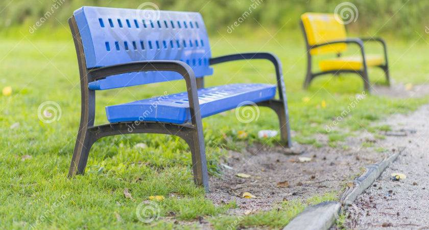 Colored Benches Happy