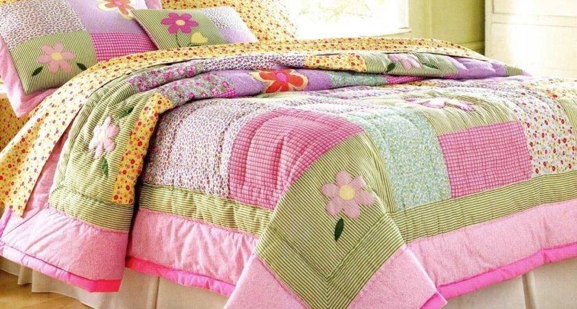 Colorful Floral Bedding Set Bed Connected Green