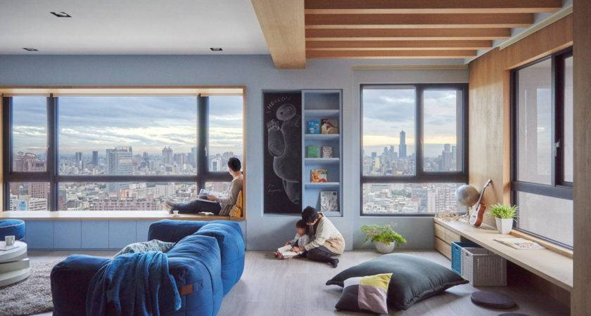 Colorful Modern Apartment Small Children