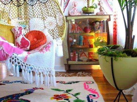 Colorful Whimsical Living Room Decor