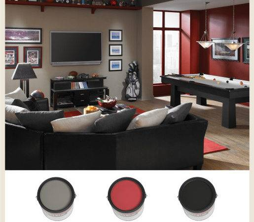 Colorfully Behr Man Cave