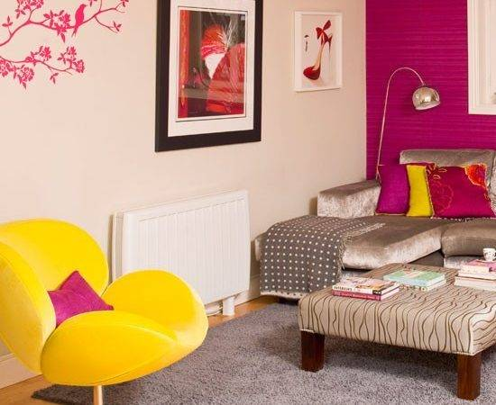 Colourful Modern Living Room Decorating Ideas