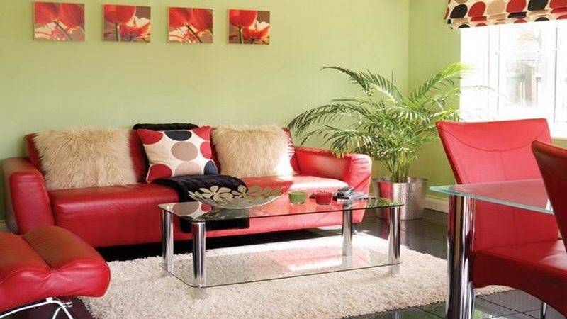 Colourful Yellow Red Living Room Color Schemes Home