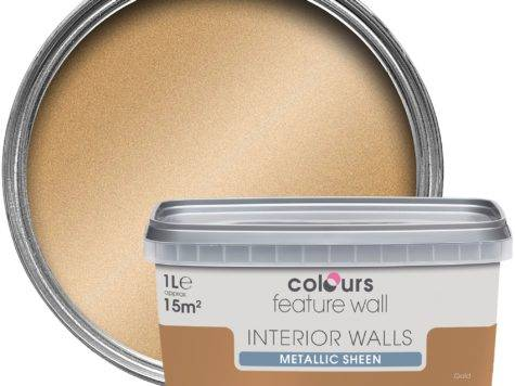 Colours Feature Wall Gold Effect Metallic Emulsion Paint