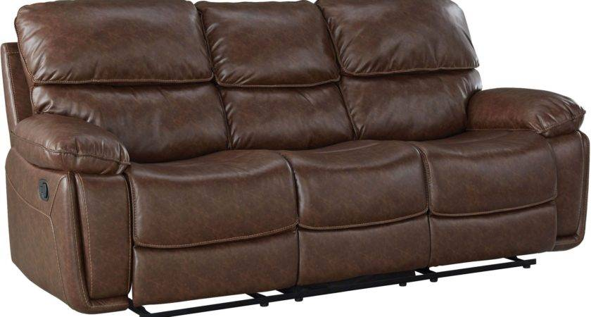 Colson Red Brown Reclining Sofa Standard Furniture