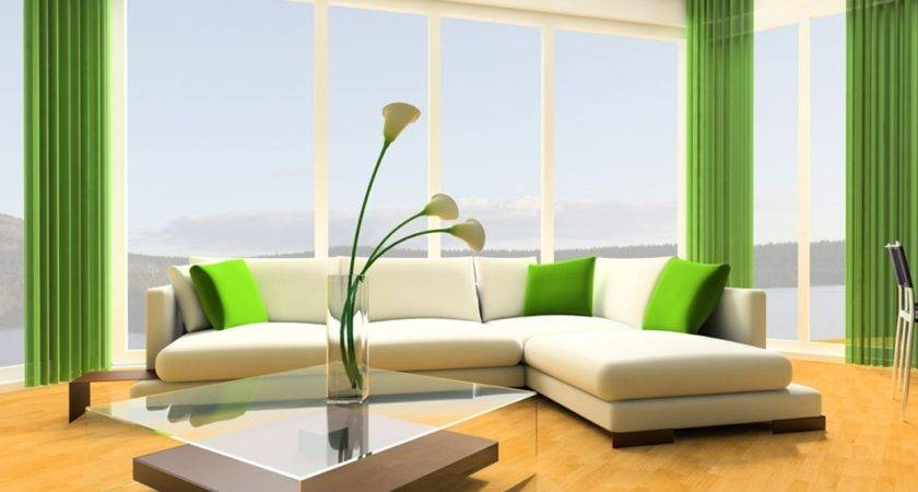 Combination Green White Living Room Decoration