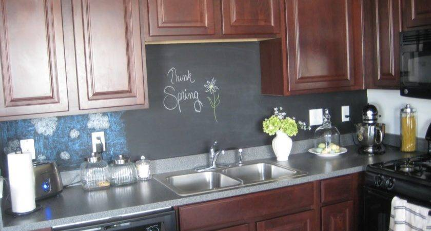 Comfy Little Place Own Chalkboard Backsplash