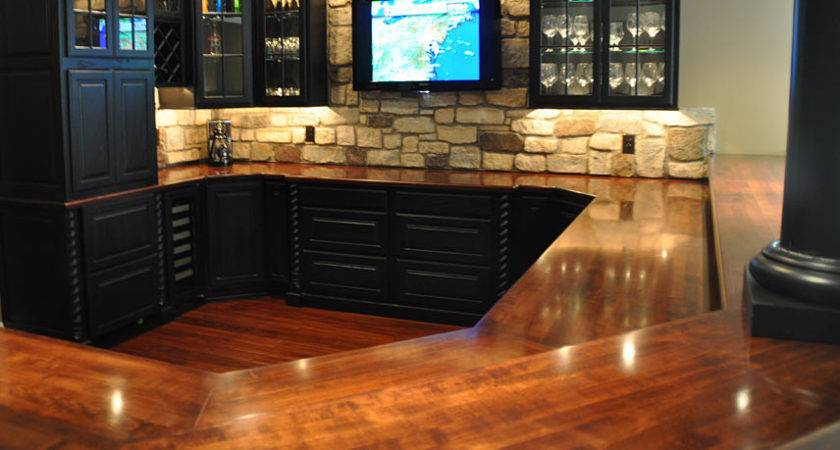 Commercial Residential Wood Bar Top Photos Wet