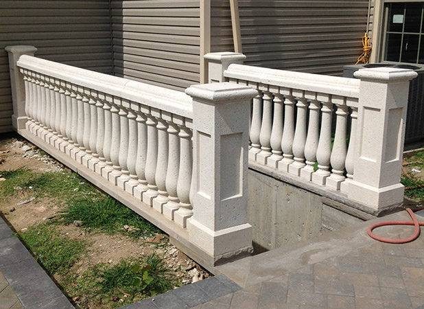 Concrete Balustrade Porch Railings Stair