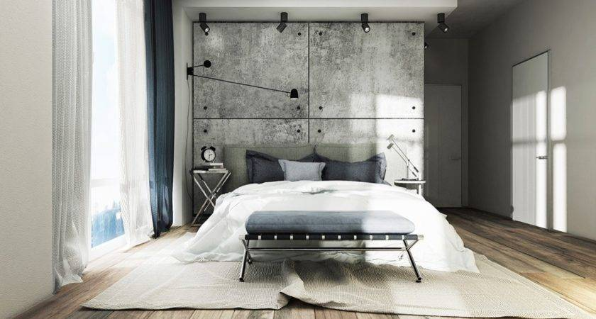 Concrete Wall Designs Striking Bedrooms