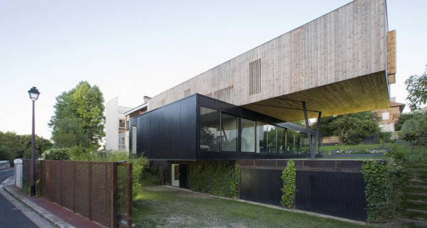 Contemporary Cantilever House Design Paris Architects