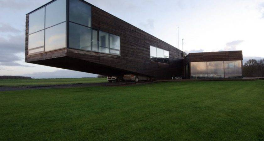 Contemporary Cantilever House Lithuania Most Beautiful