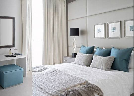 Contemporary Design Master Bedroom Gray Teal Just