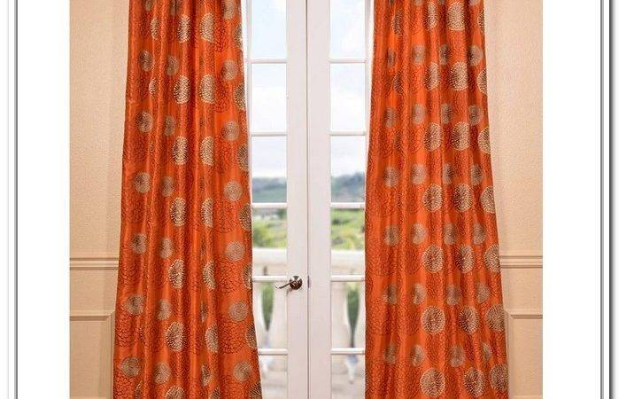 Contemporary Entryway Burnt Orange Curtains Drapes