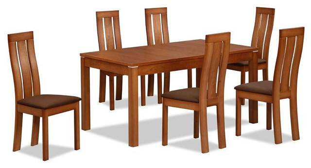 Contemporary Extendable Designer Table Chairs Set