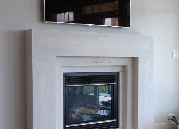 Contemporary Fireplace Mantels Living Room