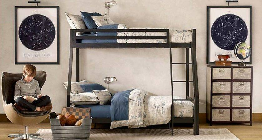 Contemporary Kids Bedroom Bunk Beds Egg Chair