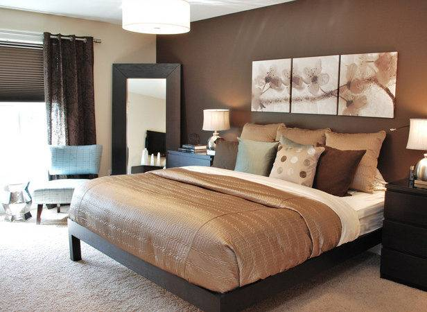 Contemporary Master Bedroom Chocolate Taupe
