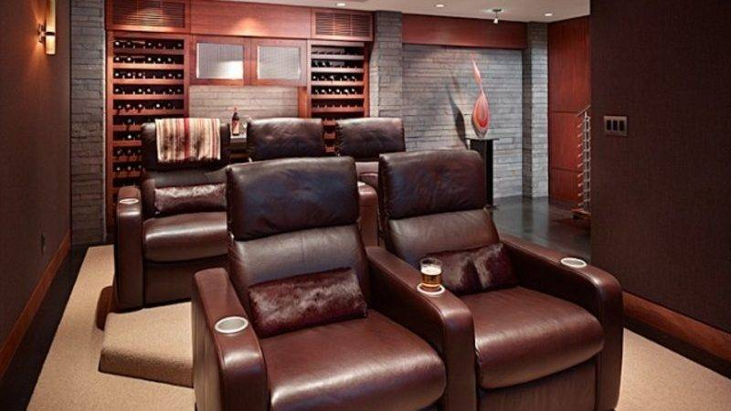 Contemporary Media Room Design Bookmark