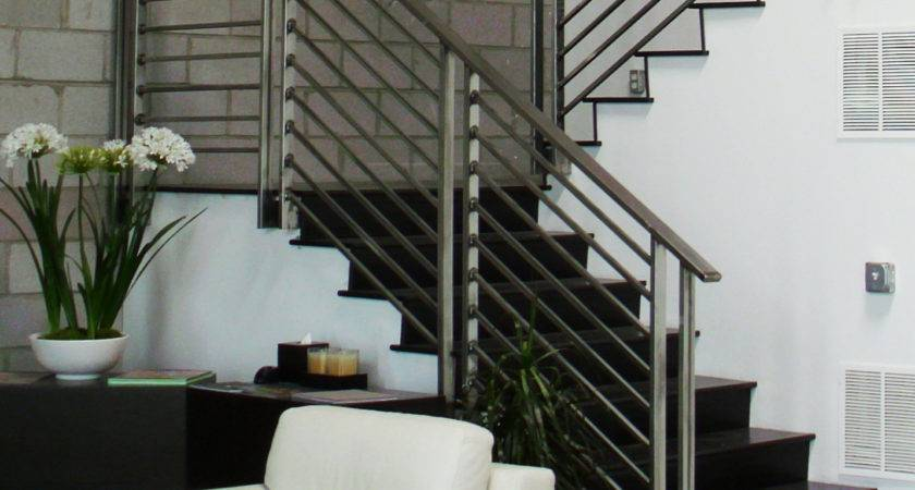 Contemporary Stainless Steel Stair Railings Components