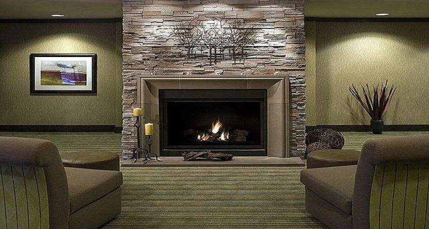 Contemporary Stone Fireplace Design Ideas Modern Gas